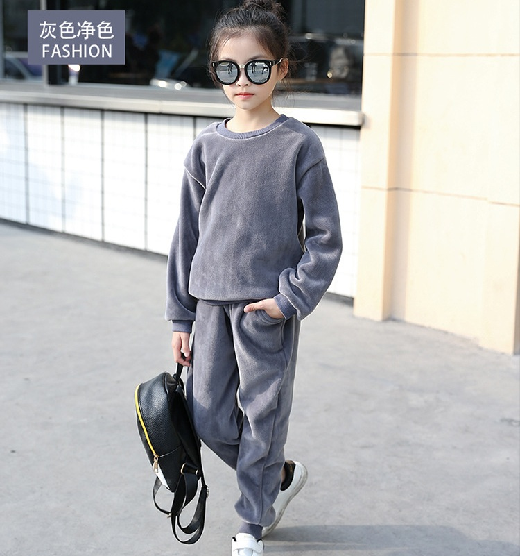 Sardiff Brand 2018 Kids Velvet Clothing Set High Quality Kids Cotton Sports Clothes Sports Set For Spring Autumn Black Grey Suit brand 2016 spring summer yoga clothing set cotton linen meditation clothes high quality women buddhist set sports suits kk395 20