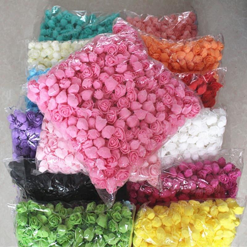 Искусственный цветок 500 шт., украшения для свадебной вечеринки, роза, мишка, годовщина, Рождество, сделай сам, День Святого Валентина, подарок...