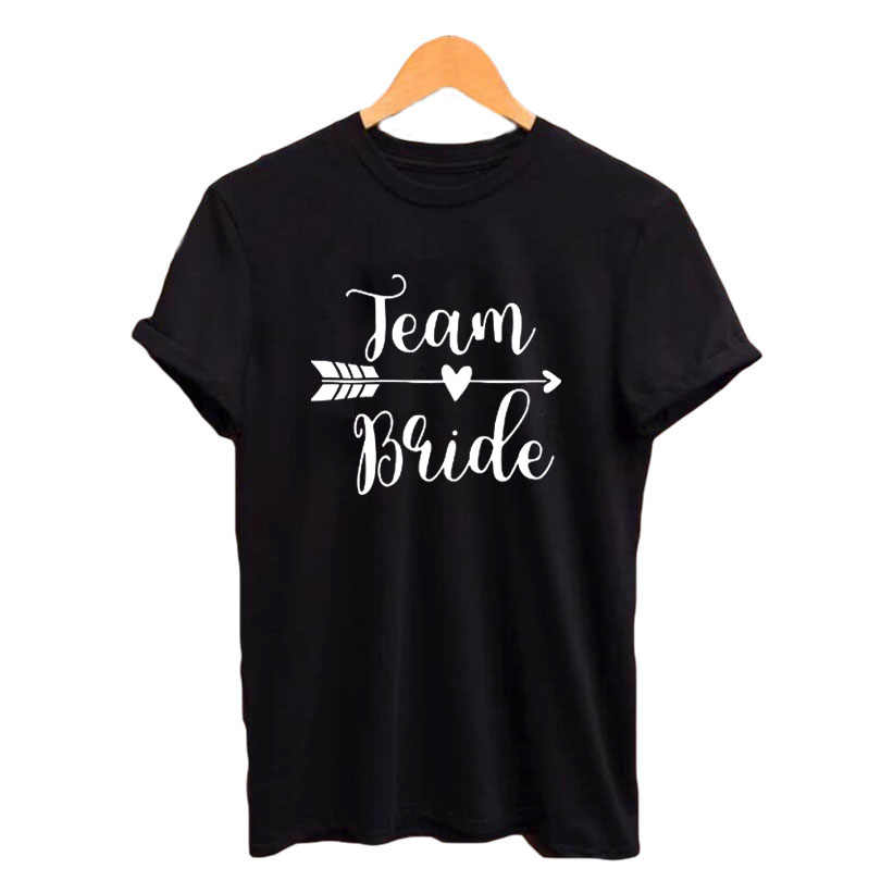 c83ec7f2ba83 Detail Feedback Questions about Team Bride T shirt Hipster Wedding Party  Funny Saying Tshirt Letters Printing Tees Summer Black White T Shirt Tumblr  Women ...