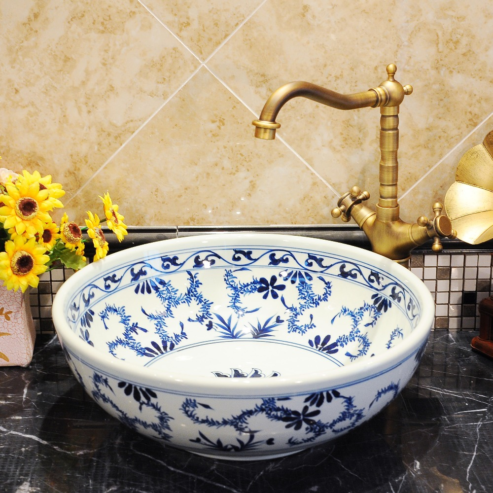 Painting A Porcelain Sink Online Get Cheap Painted Bathroom Sink Aliexpresscom Alibaba Group