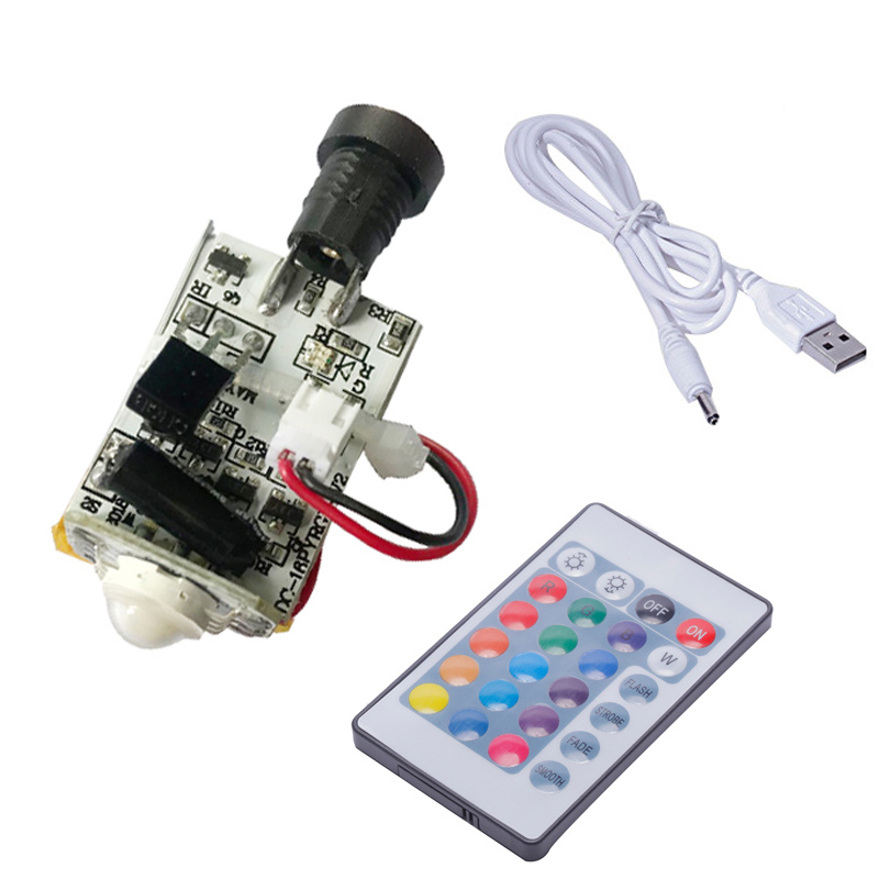 25pcs 3D printing 16 colours moon lamp circuit board wick touch switch and remote switch straw