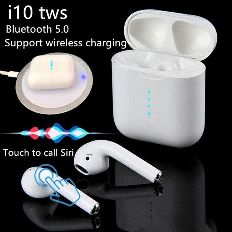 I10 tws Bluetooth écouteurs sans fil Bluetooth 5.0 écouteurs Touch Air pods casque pour IPhone Xiaomi Samsung téléphones Android