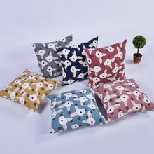 Cartoon Animal Cushion Covers Red Blue Gray Pink Rabbit Pillowcase 45*45CM Childrens Room Kindergarten Decorative Pillow