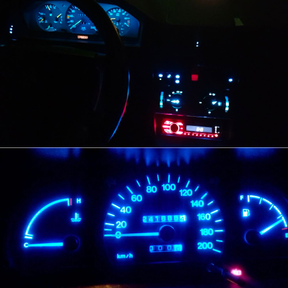 20pcs Car Interior T5 Led 1 SMD DC 12V Light Ceramic Dashboard Gauge Instrument Ceramic Car Auto Side Wedge Light Lamp Bulb