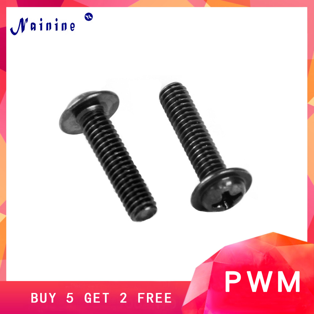 50Pcs DIN967 M2 M2.5 M3 PWM Pan Padded Screws PC Case Chassis Fixed Motherboard Screws With Pad Black SS0950Pcs DIN967 M2 M2.5 M3 PWM Pan Padded Screws PC Case Chassis Fixed Motherboard Screws With Pad Black SS09