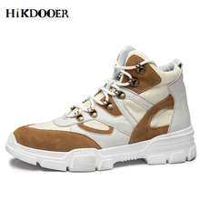 Men Boots Fashion Winter Men Shoes Autumn Leather Footwear For Man New High Top Canvas Casual Shoes botas masculina Male Boots цены онлайн