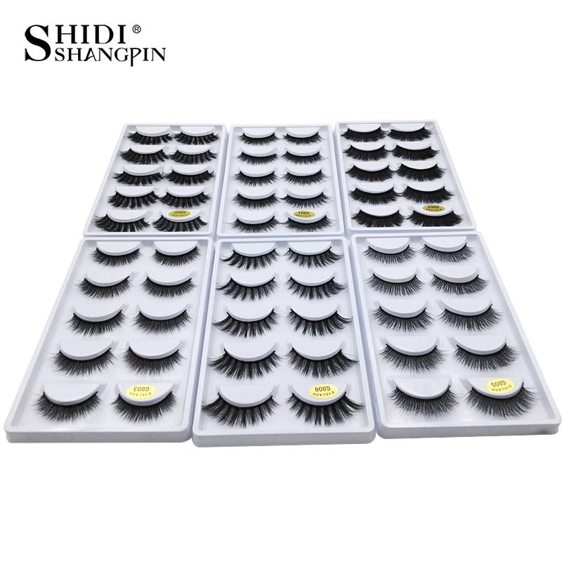 SHIDISHANGPIN 50 boxes eyelashes mink eyelash strip 3d lashes false lashes makeup 3d mink lashes 250