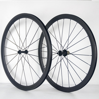Full carbon road bike wheel 38mm tubular carbon fiber wheels 3K weave bicycle wheelset with powerway R13