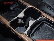 HOTTOP Per Honda CRV CR-V 2017 2018 In Acciaio Inox Anteriore Centro Posteriore Cup Holder Pad Trim