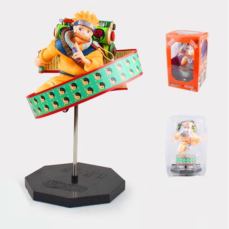 Anime Naruto Ultimate Ninja Shippuden PLEX DPCF Uzumaki Naruto PVC Action Figure Toy 23cm Collection Model RETAIL BOX 2pcs set naruto anime uzumaki naruto hyuga hinata pvc action figure model collection 16cm approx toy