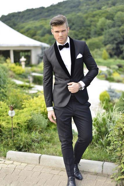 dfc80ee3af7 2017Men Formal Dress Suits Fashion red Business Suit men wedding suits mens  tuxedos Style Mens Prom Tuxedo (coat+pants+bow tie)