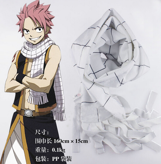 Anime Characters 160cm : Anime fairy tail cosplay accessories natsu dragneel neck