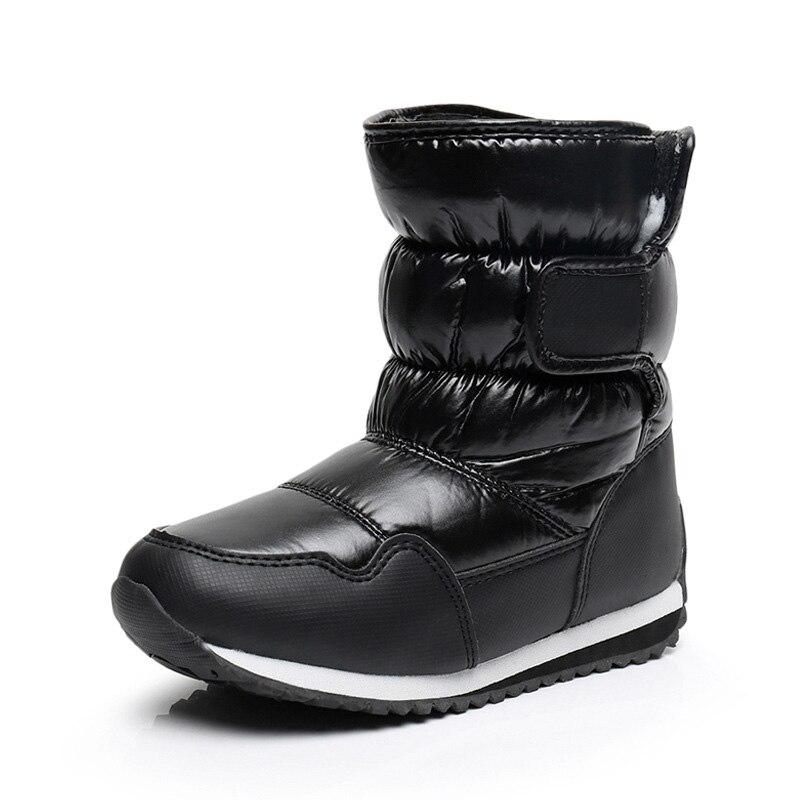 2018 Nye Vinter Børns Sko PU Læder Vandtæt Varm Sne Støvler Børne Boot Mærke Babysko Piger Boys Fashion Sneakers S3