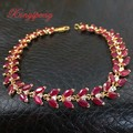 Fine natural ruby jewelry 18 k gold bracelet lady married his girlfriend of luxury and generous gift