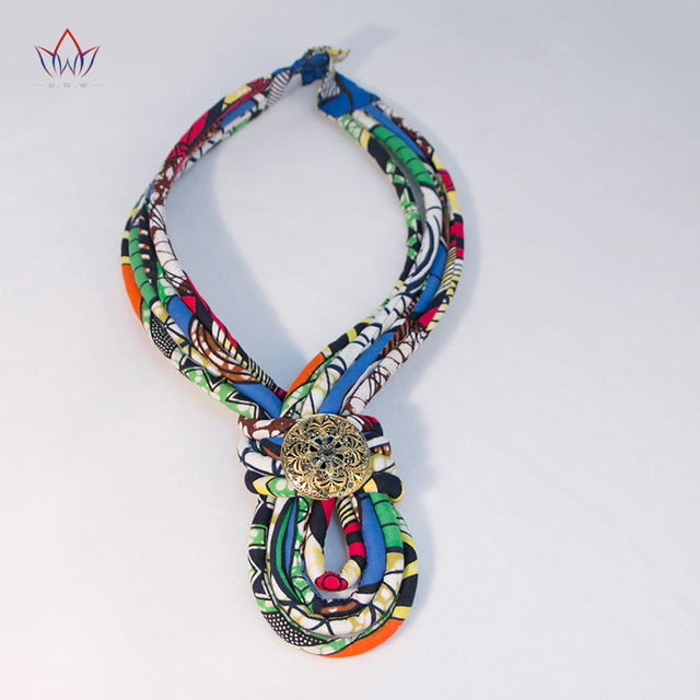 aliexpress com buy colorful african jewelry fabric rope necklace