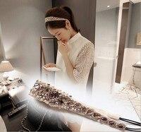 Holesale קמעונאות מקסימה אופנה בעבודת יד שרשרת חרוזים אקריליק קריסטל פרל אלסטיים בגימור מפלגת אביזרי הארי