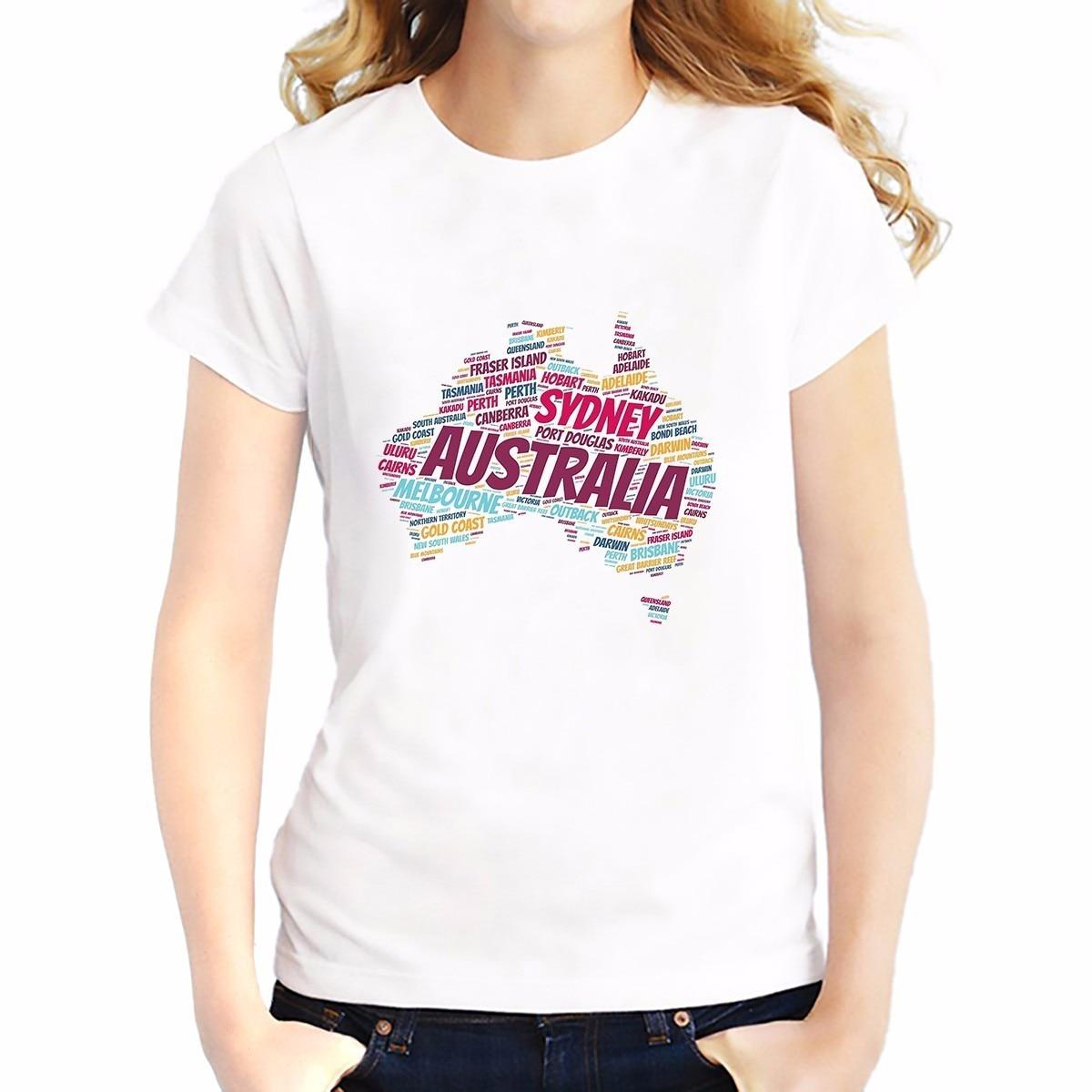 Design t shirt online australia -  Design Australia France Italy World Map T Shirt Women Short Download