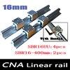 NEW 2pcs SBR16 L400mm Linear Bearing Rails 4pcs SBR16UU Linear Motion Bearing Blocks Can Be Cut
