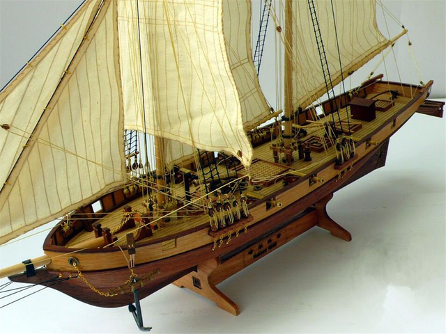 Us 186 5pcslot Scale 1100 Classics Antique Wooden Sail Boat Model Kits Halcon1840 Ship Assembly Kit Sailboat Educational Toy In Puzzles From Toys