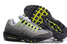 95 Men Running Shoes Pull Tab Black Brown White Slate Blue 95s Athletic Sport Sneakers Size 36-46