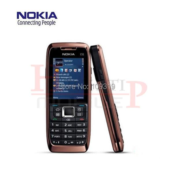 Original nokia e51 mobile teléfonos wifi bluetooth java de desbloqueo del teléfo