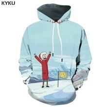 KYKU 3d Hoodies Rick And Morty Hoodie Men Snow Hoody Anime Mountain Sweatshirt Printed Harajuku Abstract Print