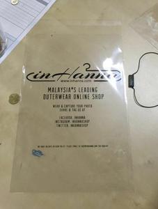 Image 2 - 1000x customized clear self adhesive plastic bag with custom logo printed