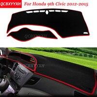 Car Styling Dashboard Avoid Light Pad Polyester For Honda 9th Civic 2012 2015 Instrument Platform Desk