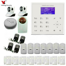 YobangSecurity Wireless WiFi GSM Home Burglar Fire Alarm Security System With Wireless Flash Siren Video IP Camera Door Sensor