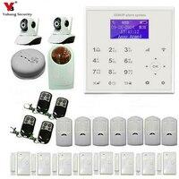 YobangSecurity Wireless WiFi GSM Home Burglar Fire Alarm Security System With Wireless Flash Siren Video IP Camera Door Sensor