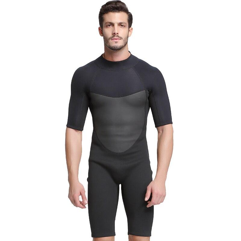 Hommes 2mm dos Zip printemps combinaison de plongée noir adulte jeunesse Shorty combinaison de surf canoë plongée sous-marine plongée combinaison de natation