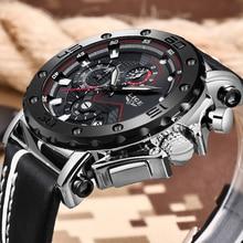 LIGE montre de sport pour hommes, marque supérieure de luxe, montre à Quartz, style militaire, étanche, 2019