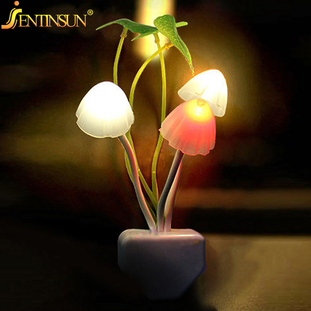 Romantic Colorful Mushroom LED Night Light Sensor Control LED Lamp Night  For Home Bedroom Decoration Lamps