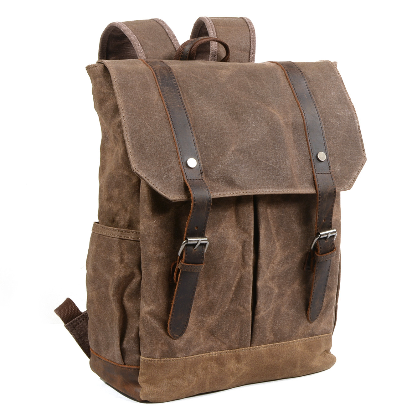 Man's Waxed Canvas Harajuku Backpack waterproof Travel Schoolbag Male Women Large Capacity Rucksack Shoulder Bag Mochila Escolar man s canvas backpack travel schoolbag male backpack men middle capacity rucksack shoulder school bag mochila escolar
