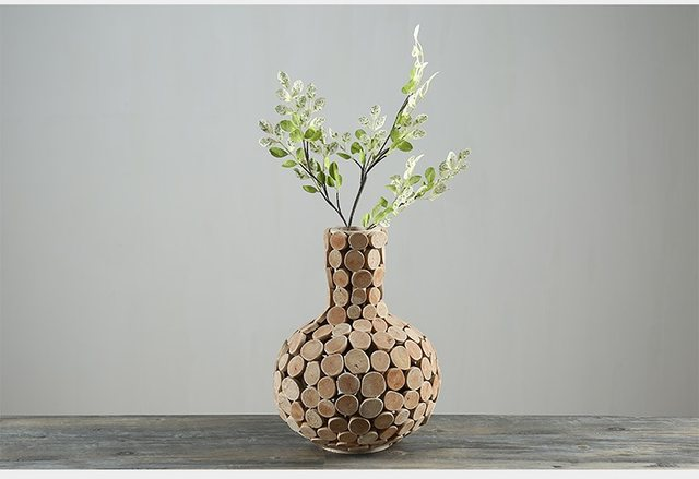 Online Shop Home Decor Vase Wooden Vases For Flower Gifts Pastoral