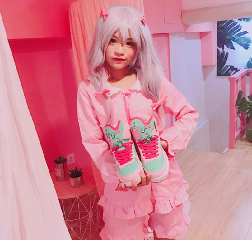 Kawaii Harajuku Lolita Women's HEART Little Twin Star Sneakers 1