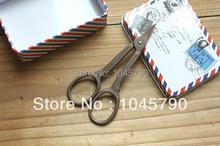 Darmowa wysyłka1 X styl Vintage nożyczki w starym stylu hafty nożyczki do szycia DIY ręcznie podnośniki tanie i dobre opinie STAINLESS STEEL 10 5CM X 5CM SC022 1 piece Bronze