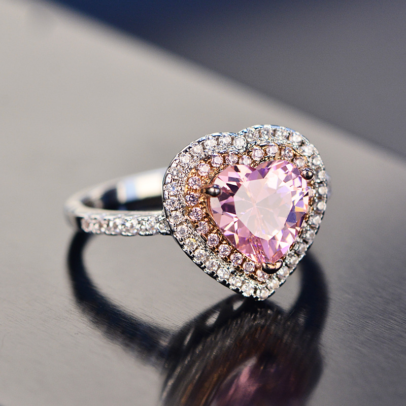New Pink Heart Ring Anime Jewelry Cosplay Actress Sailor Moon Lunar Rabbit Bunny Engagement Ring