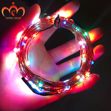 USB RGYB 8 דגמים של מנצנץ עם 10M מרחוק LED נחושת מחרוזת אור חג המולד קישוט LED פיות אורות גרלנד