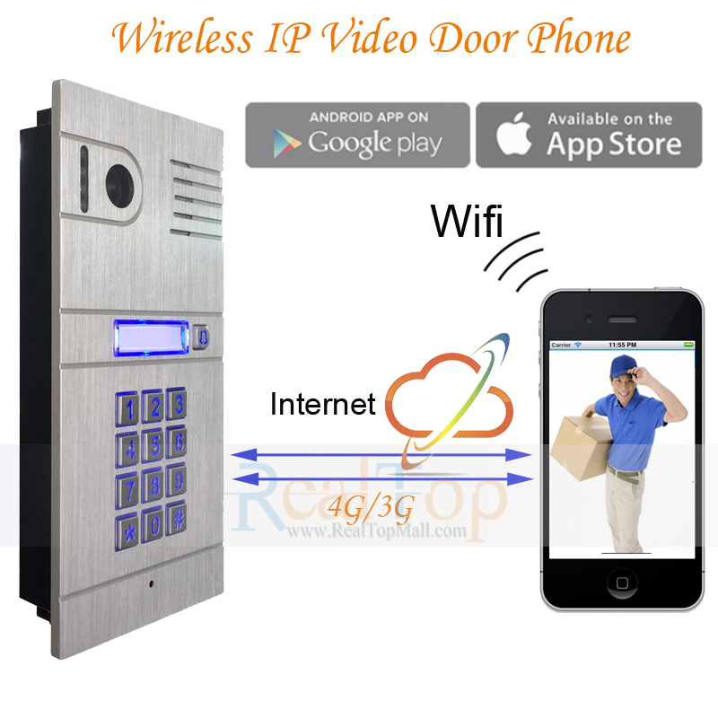 Wireless IP Intercom System Home Access Door Open Remote Control Camera Doorbell For Free Shipping