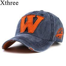 b66220a4c Xthree quente algodão bordado letra W boné de beisebol tampas snapback  equipado osso casquette chapéu para