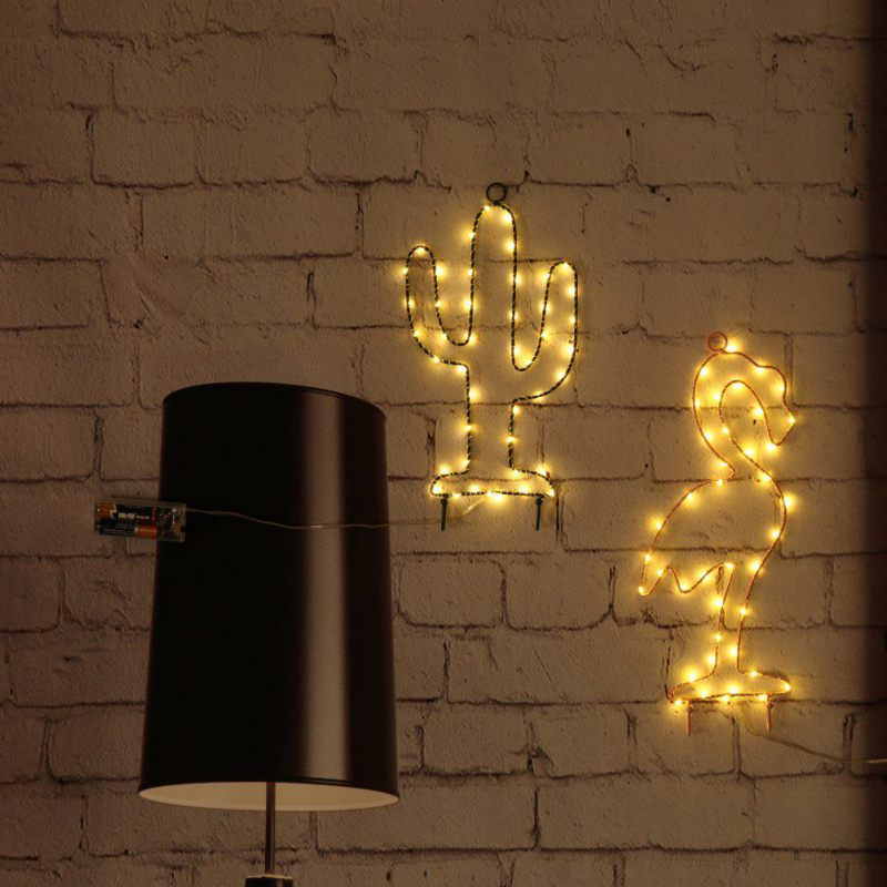 Neon Light Sign LED Cactus Wall Decor Night Lights Home Decoration Party Supplies LED Decorative Lights куртка темно синяя brums ут 00008774