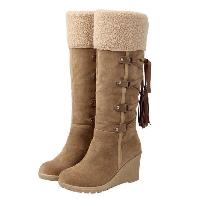 bdae96e0aca Winter Boots Women Fashion Snow Boots New High Heel Boots With Tassels  Women Shoes Fashion Sexy