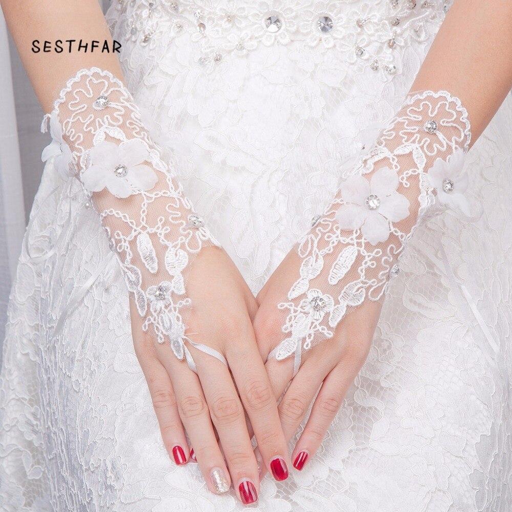 Bridal Gloves Cheap Wedding Accessories For Bride Wedding Dress Gloves Ucuz Novia Barato Wedding Gloves