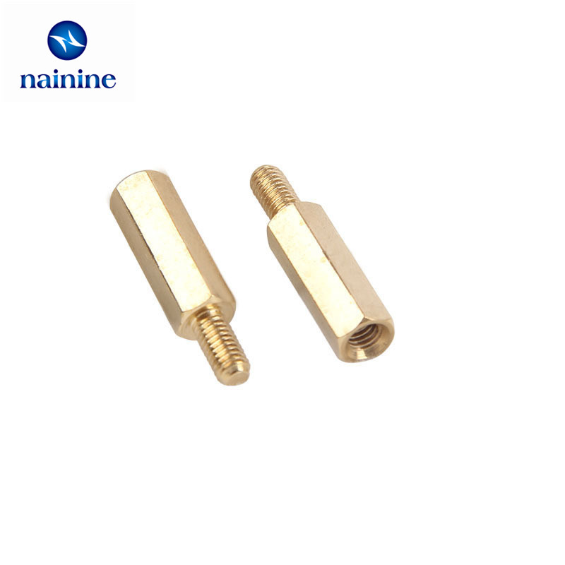 120Pcs/set M3 M4 Double-pass Studs Brass Pillars Through-holes Standoff Screw Spacers Isolation Spacing Screw HW039