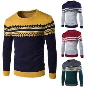 2018 Sweaters Men New Fashion Casual O-Neck Slim Cotton Knit