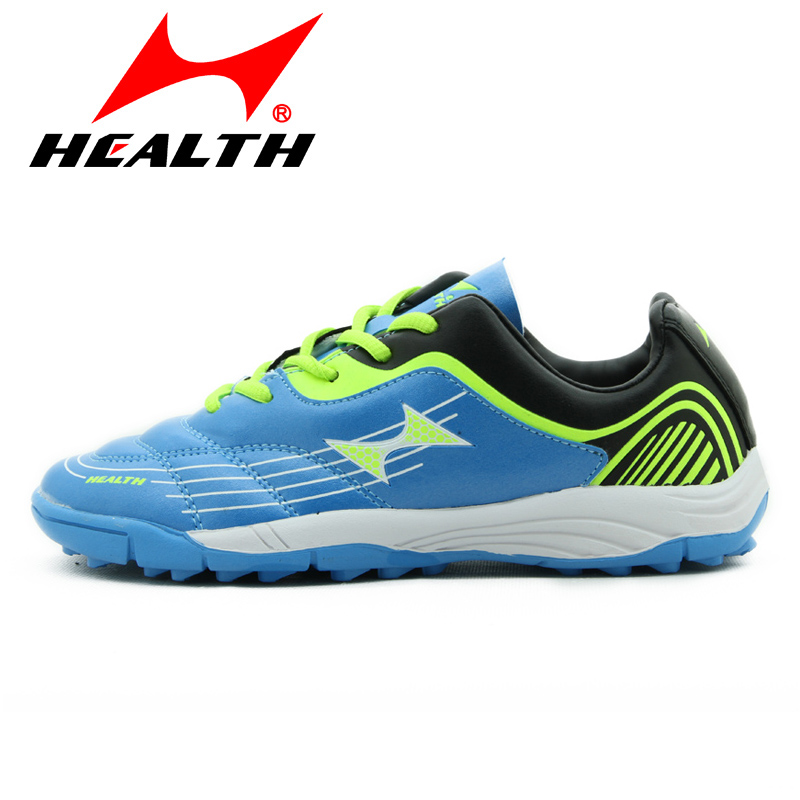 Health children shoes football boots kids sport child slip-resistant wear-resistant gel nails football soccer shoes sport shoes 2016 spring child sport shoes leather boys shoes girls wear resistant casual shoes
