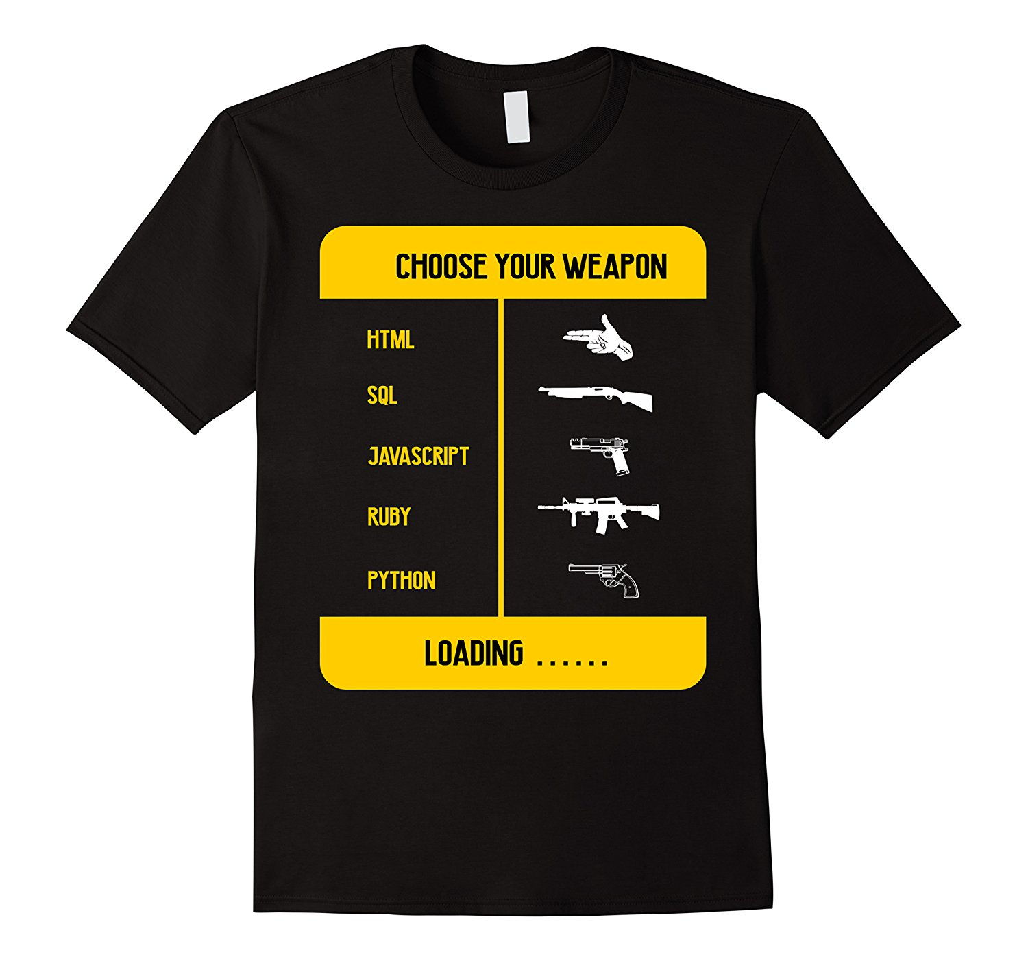 1087e781 Javascript Programming T Shirt Choose your weapon-in T-Shirts from Men's  Clothing on Aliexpress.com | Alibaba Group