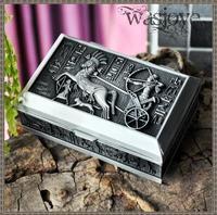 European retro caved tin metal princess jewelry box keepsake souvenir gift box case holder makeup organizer Z037