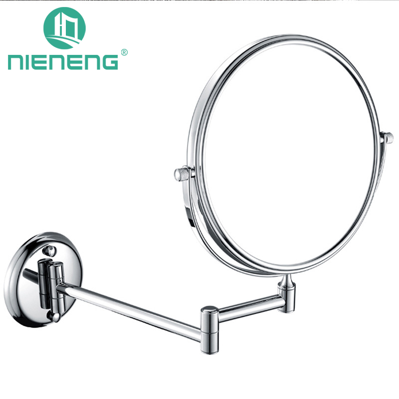 Nieneng Bathroom Makeup Mirrors Wall Mounted Folding Mirror 3X 5X 7X 10X Bath Mirror Make up Toilet Magnifying Mirror ICD60523 цена